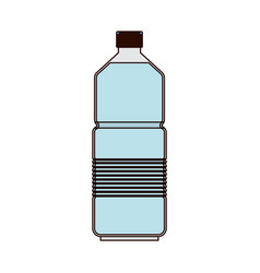 water bottle icon in colorful silhouette with thin vector image