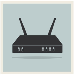 Wi-Fi Router on Blue Retro Background vector