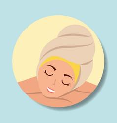 Woman spa wellness vector