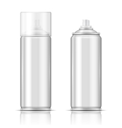 Blank aluminium spray can template vector image vector image