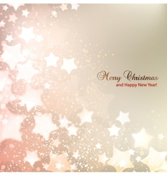 Elegant Christmas background with stars and place vector image