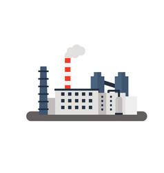 factory landscape flat vector image vector image