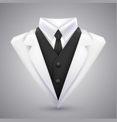 triangle jacket and tie art vector image vector image