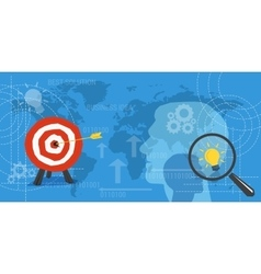Business concept background with target and lamp vector image