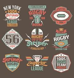 College team American football retro emblems vector image vector image