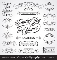 Easter calligraphy set vector image vector image