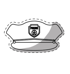 figure hat police icon image vector image vector image