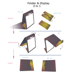 folder and display vector image