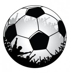 football crowd vector image
