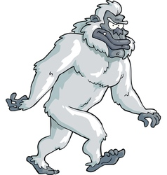 white bigfoot vector image