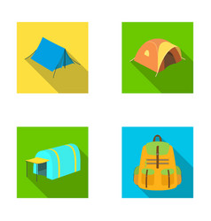 backpack and other kinds of tentstent set vector image
