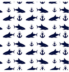 nautical seamless background vector image