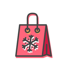 package snowflake christmas vector image vector image