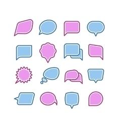 Speech bubbles conversation chat text dialogue vector image vector image