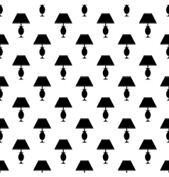 Table lamp pattern seamless vector image vector image