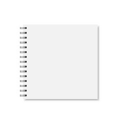 white realistic closed notebook cover vector image vector image