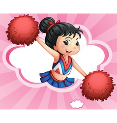 A cheerleader inside a cloud vector