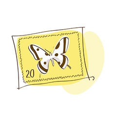 A stamp is placed vector