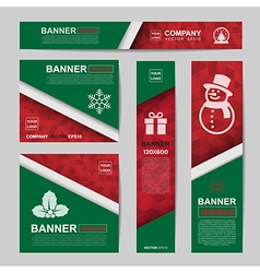 Abstract christmas banner vector