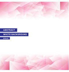 Abstract template pink low poly trendy white vector
