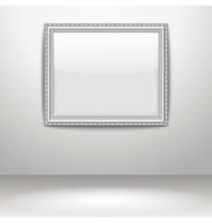 an empty frame on a wall vector image