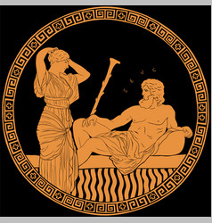 Ancient greek people vector