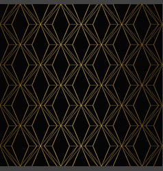 art deco pattern seamless gold and black vector image