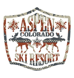 Aspen ski resort vector