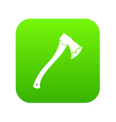 axe in blood icon digital green vector image