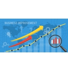 background BUSINESS IMPROVEMENT vector image