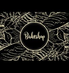 bakeshop horizontal banner vector image