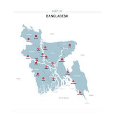 Bangladesh map with red pin vector