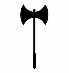 battle axe dark silhouette vector image