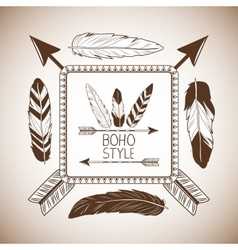 Boho style bohemic and ornament design vector image