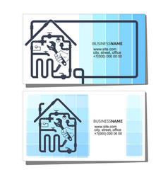 Business card concept plumbing and pipeline vector