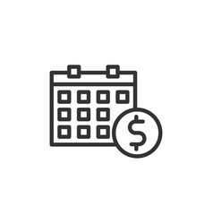 Business payday icon with line style vector