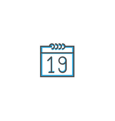 calendar icon design essential icon vector image