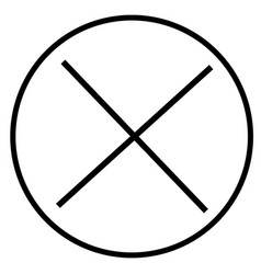 cancel close cross delete remove stop icon vector image