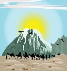 Caravan Camels vector