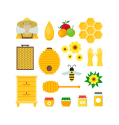 cartoon honey color set vector image