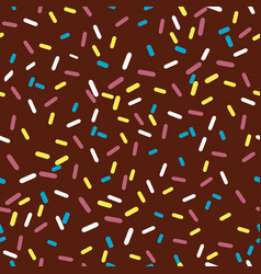 chocolate glaze vector image