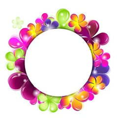 Circle With Abstract Flowers vector