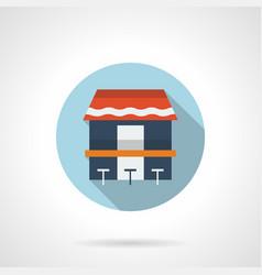 coast cafe flat round icon vector image vector image