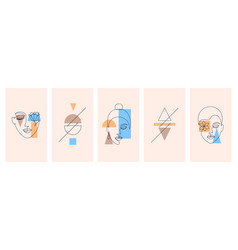 Collection cards vector