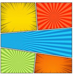Comic book bright concept vector