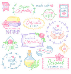 cosmetic labels set vector image