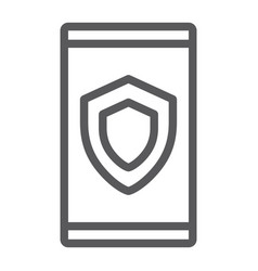 device security line icon data and protection vector image