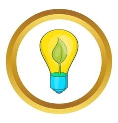 Eco light bulb icon vector image