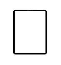 empty screen new tablet mockup design vector image