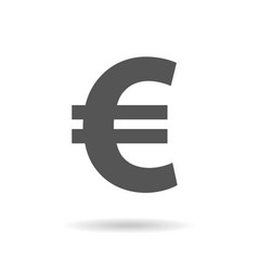 Euro sign icon in flat style money vector